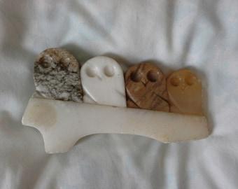 cute stone owls