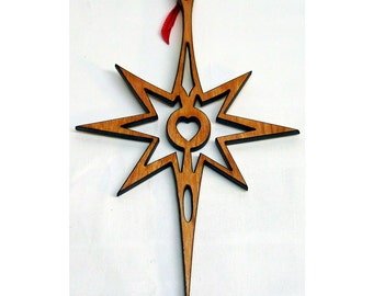 Star Heart Ornament