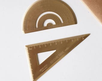 Brass Protractor Ruler /Brass Triangle Ruler