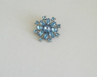 Vintage Blue 60's Brooch