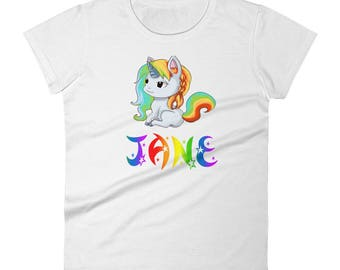 Jane Unicorn Ladies T-Shirt