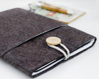 Kindle sleeve, Kindle cover, Kindle case, Kindle Paperwhite sleeve, Kindle Voyage, Custom, Herringbone Brown, eReader Pouch, eReader sleeve