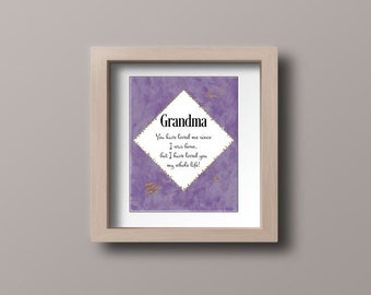 Wall art quotes -  Grandmother you have loved me since I was born