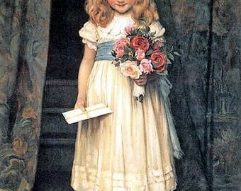 Portrait of a Victorian Girl - Counted cross stitch pattern in PDF format