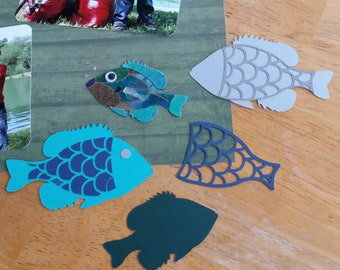 SVG Fish Bluegill Customizable with many variations (Digital Download)