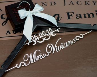 Wedding Gift | Wedding Hanger Personalized with Date | Bridal Hanger | Bridesmaid Gift |  Jr Bridesmaid Dress Hanger | Bridal Shower Gift