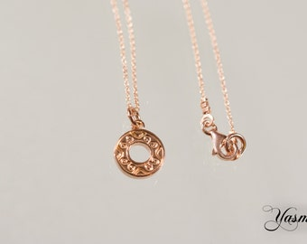 Ornament on 925 Silver rose gold plated