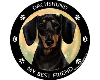 Dachshund Black My Best Friend Dog Magnet