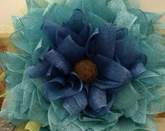 Two tone blue wreath