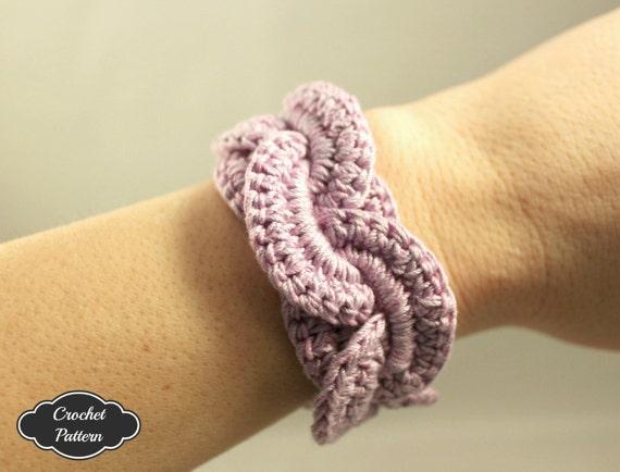 CROCHET PATTERN - Crochet Bracelet Infinity Link Cuff, Crochet ...