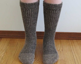 Alpaca wool socks - Everyday Style - Super cozy warm and soft socks Size SMALL fawn color
