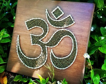 Om Symbol - Modern String Art Tablet - Aum - made to order