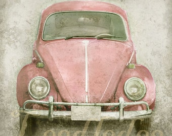 Pink Bug (or CHOOSE your color) - Original Photograph Print - Vintage Volkswagen Beetle 1960s 1970s