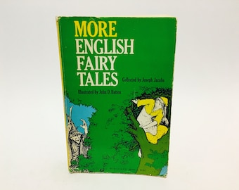 Vintage Children's Book More English Fairy Tales Collected by Joseph Jacobs 1968 Softcover