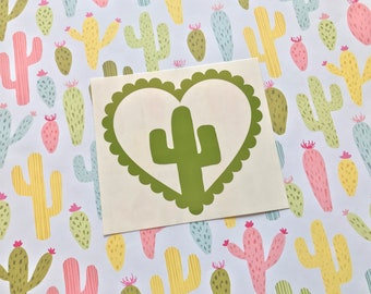 Love Hearts - Cactus - Car decal, Laptop sticker, desert, southwest, saguaro, Arizona