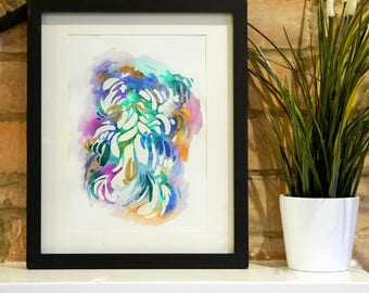 Watercolour Abstract ORIGINAL Painting or Print,