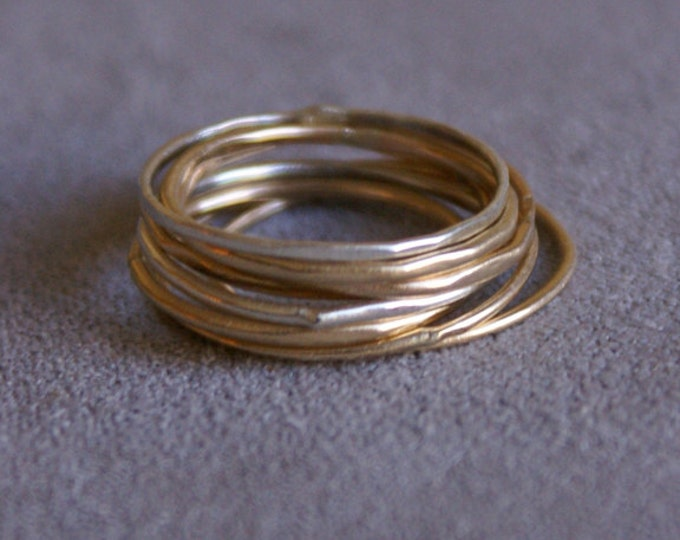 Stacker Rings in Sterling Silver and 14k Goldfill