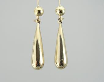 Classic High Polish Gold Teardrop Earrings 1WLN4W