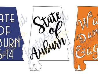 State of Auburn Vinyl Decal