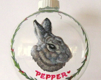Mothers Day Gift, Rabbit Painting, Bunny Art, Custom Pet Portrait, Personalized Pet, Animal Art, Bunny, Pet Loss Memorial, Glass Art