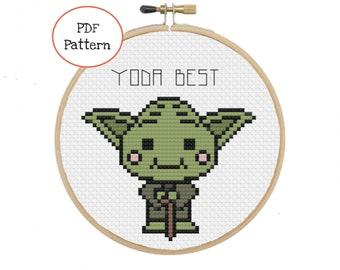 Yoda Best Cross Stitch - PDF Pattern