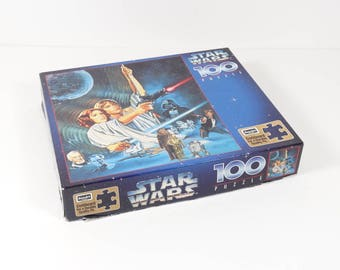 1996 Original Star Wars Puzzle 100 Pieces Luke Skywalker Princess Leia Vintage Star Wars