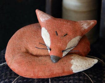 Primitive Fox Pincushion Digital PDF Pattern