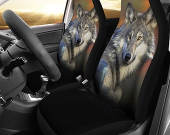 Grey Wolf Husky Designed Car Seat Covers