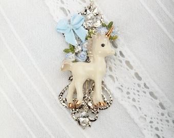 Unicorn - Unicorn Necklace - Unicorn Pendant - Unicorn Jewelry - Unicorn Jewellery - Silver Chain Necklace - Frenchtutu Unicorn Necklace