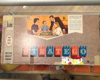 1962 // STRATEGO // Vintage Milton Bradley Company Strategy Game