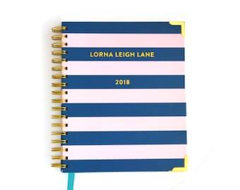 2018 Weekly Planner  |  Personalised  |  Monogram  |  Personal Planner  |  Family Planner  |  Student Planner  |  Diary  |  Australian