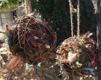Bird Nesting Balls - Alpaca Fiber & Other Goodies