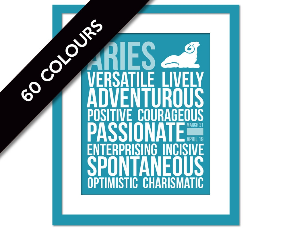 Aries personality character traits subway art print zoom nvjuhfo Image collections