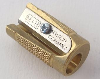 M+R CASTOR solid brass longpointer sharpener