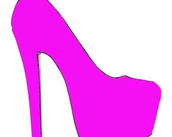 High Heeled Shoe Glass Slipper SVG Cut File