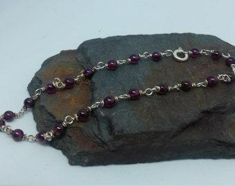 Garnet and Silver bracelet