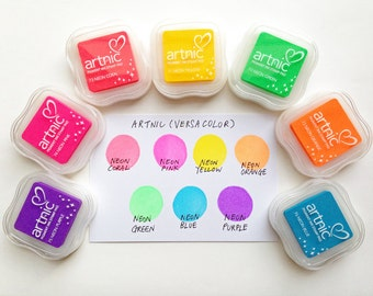 versacolor neon ink pad   tsukineko stamp ink pad   water based archival pigment ink on uncoated paper   great for embossing