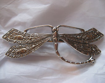 Dragonfly barrettes Vintage Hair barrette bridal hair ornaments.