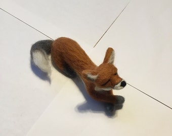 Needle felt Needlefelt, Needlefelted fox, Needle felted  animal, Needlefelted fox, Felt animal, Gift