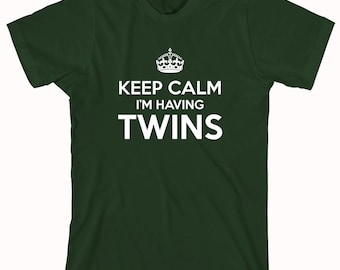 Keep Calm I'm Having Twins Shirt, mother of multiples, twins, gift idea - ID: 513