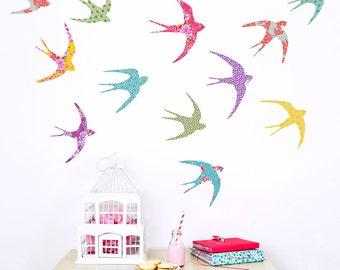 Flying Birds Fabric Wall Decals
