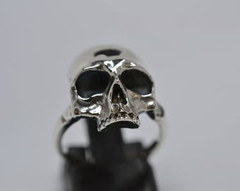 Silver Skull Ring with thin band