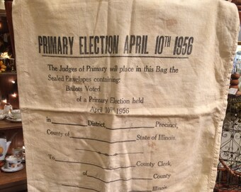 Vintage 1956 Ballot Election Bag