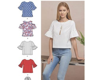 Simplicity Sewing Pattern 8602 Misses' Tops in Two Lengths