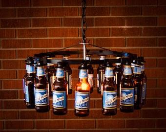 Wine glass bottle chandelier wine rack light lighting wine beer bottle chandelier chain style no wiring required aloadofball Images
