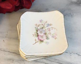 Tea Bag Holder Vintage Porcelain Royal Grafton Flowers or Viceroy Leaf Choose Teabag Strainer Infuser Rest Tray