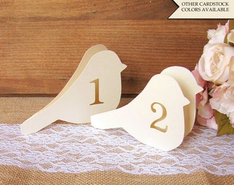 Bird table numbers - Wedding table numbers - Table numbers wedding - Love bird table numbers - Bird theme wedding - Reception table numbers