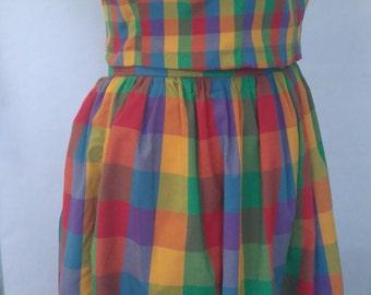 NEW! Multicolour Madras Check Crop Top PLUS SIZE Size 18 20 22 24 26 28 30