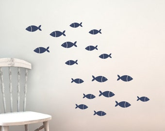 Fish Vinyl Wall Decal Set - Children Nursery - Sea Ocean Friends