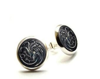 Game of Thrones Earrings- House Targaryen - Hypoallergenic Earrings